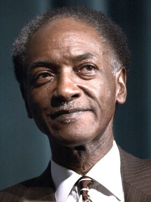 Former Detroit City Council president Gil Hill seen in 2001.