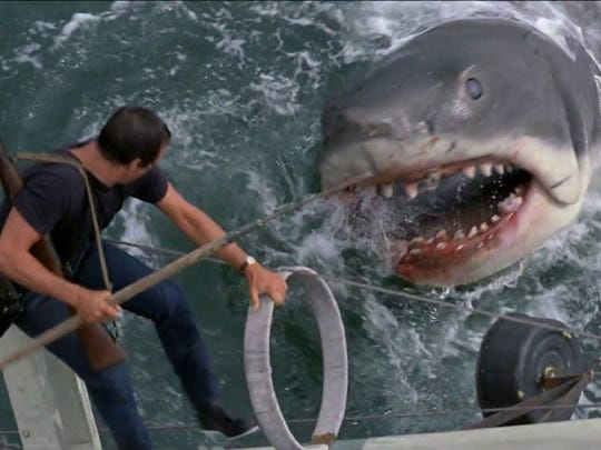 """Roy Scheider stars in """"Jaws,"""" playing at the Capitol"""