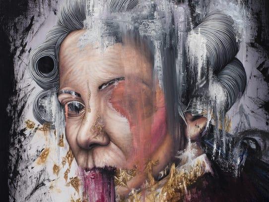 """Detail from """"éthéré"""" by Michael LaBua. Oil on linen,"""