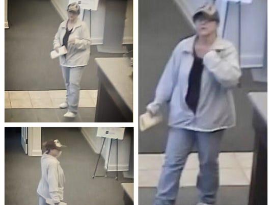 Suspect in Merchants Drive bank robbery