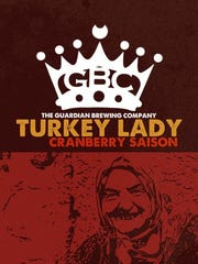 The label for the Turkey Lady, brewed by Guardian Brewing