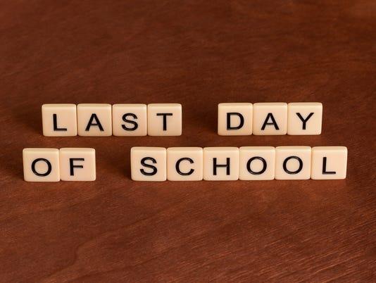 Last date of school.