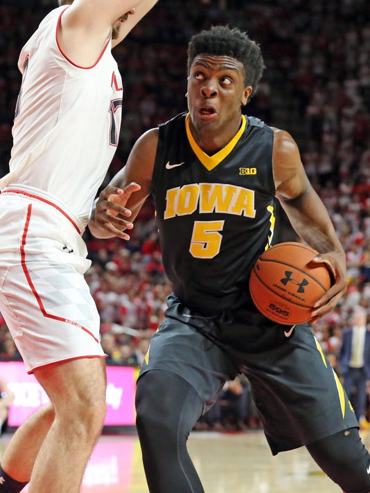 NCAA Basketball: Iowa at Maryland