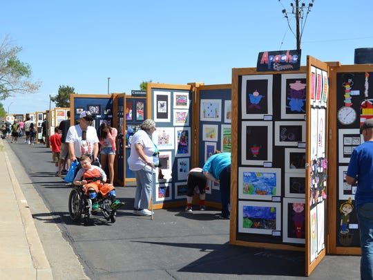 The Peoria Arts and Cultural Festival in Osuna Park. More than 5,00 pieces of visual art are on display from Peoria students as well as performances in dance, music, theater and workshops that include an introduction to drumming and craft making.