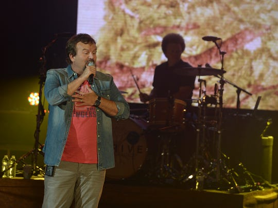An evening with Casting Crowns was held at the Carl