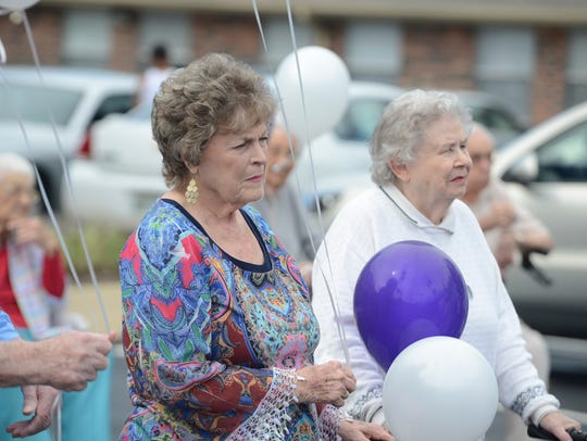 Residents of Brookdale Jackson Oaks are joined with