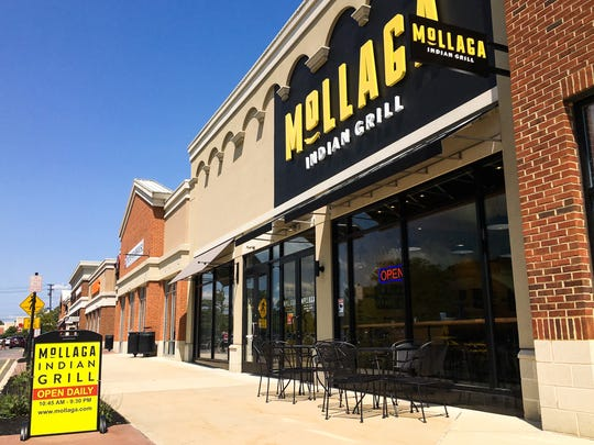 The exterior of Mollaga Indian Grill.