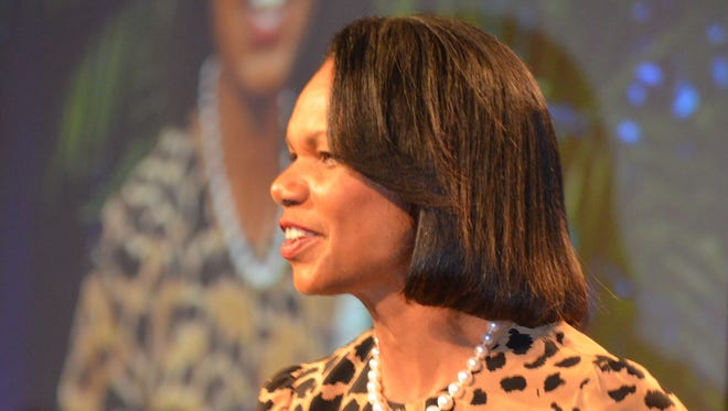 Former U.S. Secretary of State Condoleezza Rice was the keynote speaker at the Sports Heroes Luncheon, benefitting the Boys & Girls Club of Coachella Valley, at the Hyatt Regency Indian Wells Resort & Spa on Thursday, Feb. 19, 2015.
