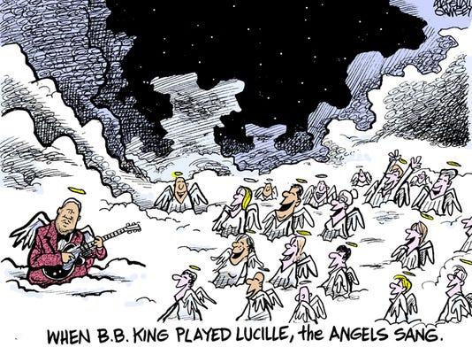 BB King cartoon