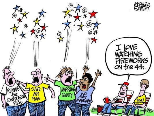 Saturday (July 4) cartoon