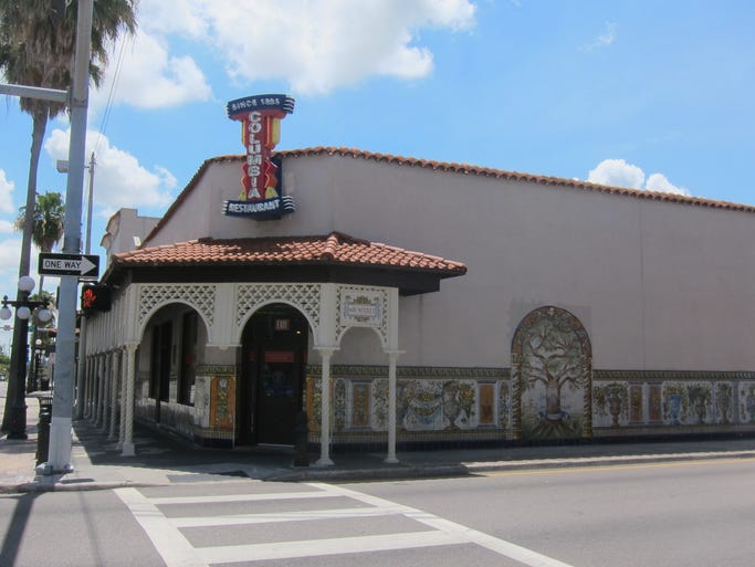 The Columbia, the oldest and largest Spanish restaurant in the U.S., seats 1,600 diners and occupies a full block on 7th Avenue, the main street in Tampa's Ybor City.