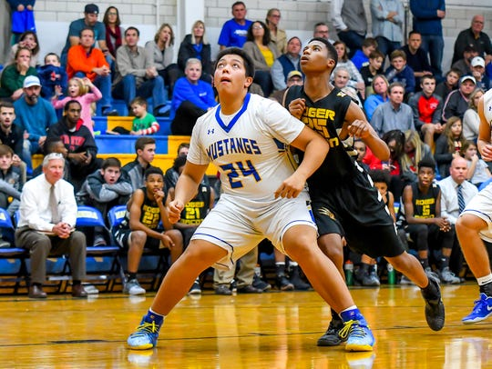 Madeira senior Steven Noung hit three triples in a 24-point performance in the Mustangs' 61-56 win over Deer Park Feb. 5.