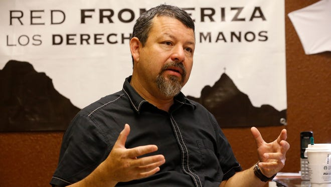 Fernando Garcia, Executive Director of Border Network For Human Rights sits behind his desk and discusses the growth of the organization over the past twenty years.
