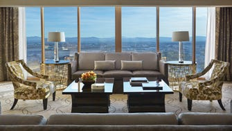 There are many presidential-caliber suites all along the Strip, all of them huge, with sweeping views and luxurious amenities. The Four Seasons, however, is an esteemed brand for high-profile visitors, with a greater degree of privacy and security as it's tucked away in a non-gaming hotel.