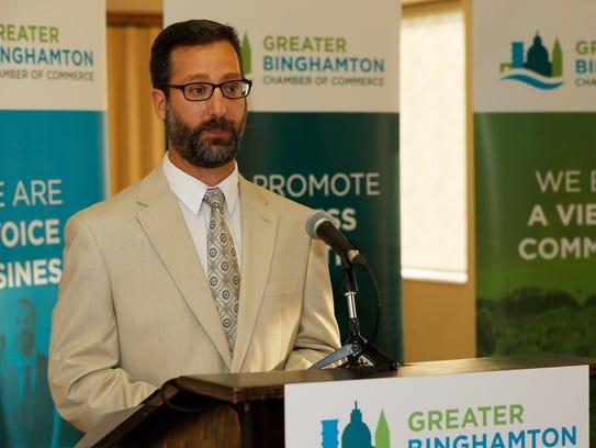 Binghamton Mayoral candidate, Tarik Abdelazim speaks