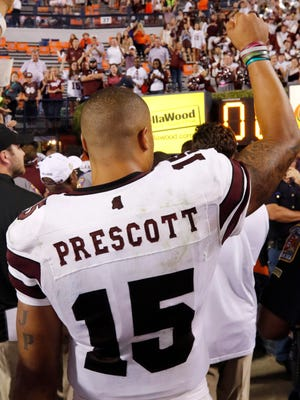 Despite seeing Dak Prescott's numbers decline this year, MSU's players and coaches believe the quarterback is better this year.