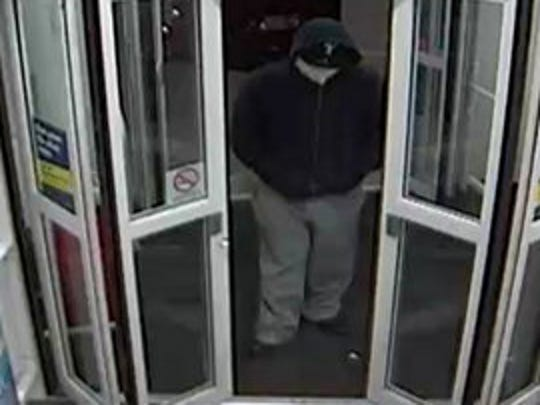 York City Police released this image of a robber suspected of stealing from two different businesses in York.