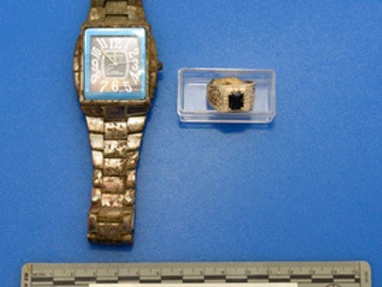 A watch and ring were found with the skeletal remains