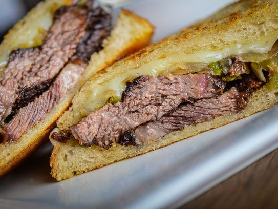Short rib melt at Famous 48, from Square One Concepts,