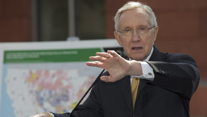 U.S. Sen. Harry Reid said his farewell to members of the Nevada delegation to the Democratic National Convention on Thursday.