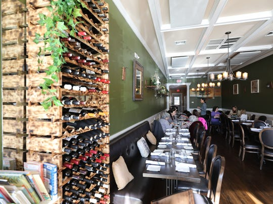The dining room at Aesop's Fable restaurant  on King