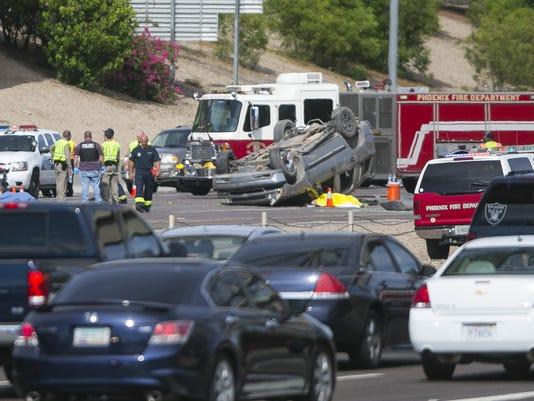 Fatal I-10 crash in Phoenix