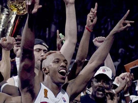 Detroit Pistons guard and NBA Finals MVP Chauncey Billups