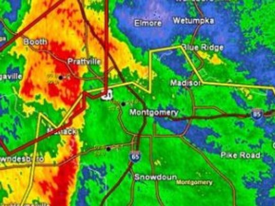 Tornado watch was underway for the River Region Saturday
