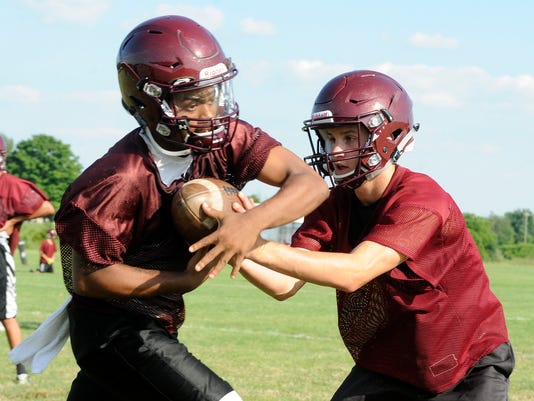 Licking Heights football practice