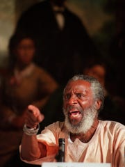 Dick Gregory speaks at the Race Relations Institute