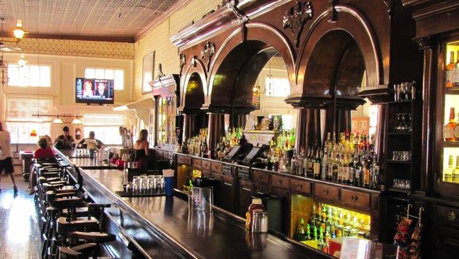 The Crystal Palace  features a 60-foot-long mahogany bar.
