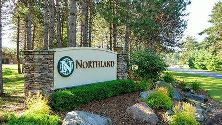 The entrance to Northland International University in Dunbar, a 1,500-acre campus with housing, camping and educational facilities.