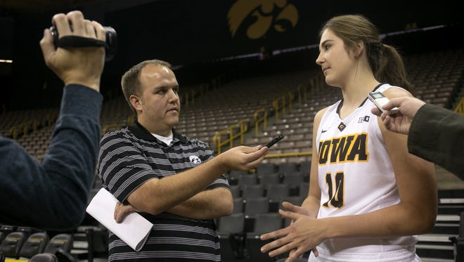 Iowa forward Megan Gustafson has adjusted well on and off the court during her first season in Iowa City.