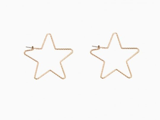 "You will certainly be the star of the show with these earrings. Pair with a plain white T-shirt and a denim skirt for a day or night out. ""Star of the Show"" earrings $3.60, Charming Charlie, Edgewater"