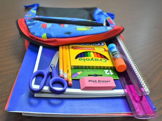 School supplies for annual sales tax holiday
