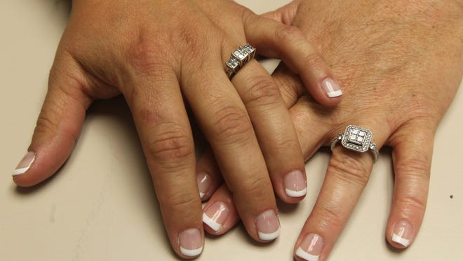 A same-sex couple that did not want to be identified was the first to apply for a marriage license in Kenton County.