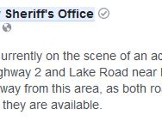 Taylor County Sheriff's Department posted this notice