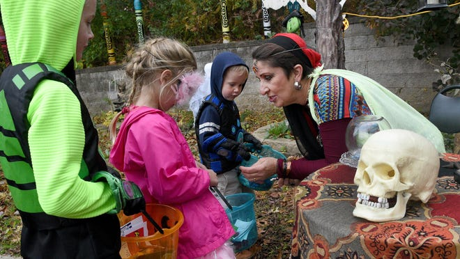 A trick-or-treat event held at Bedford Branch Library last year is pictured. Several local governments have declared they will not stand in the way of traditional trick-or-treating activities this year. Gov. Gretchen Whitmer, who has been leading the state's response to the ongoing COVID-19 pandemic, hasn't indicated what action her office may or may not take in response to festivities in the state.