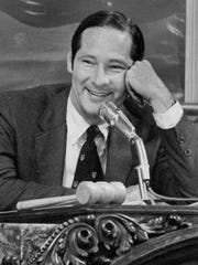 Rochester Mayor Stephen May at the rostrum in 1971.