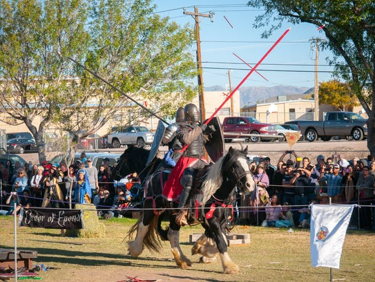 Dueling jousters battle it out during the 44th annual
