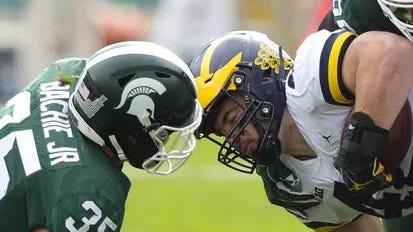 Michigan hosts Michigan State on Saturday in a rivalry showdown.
