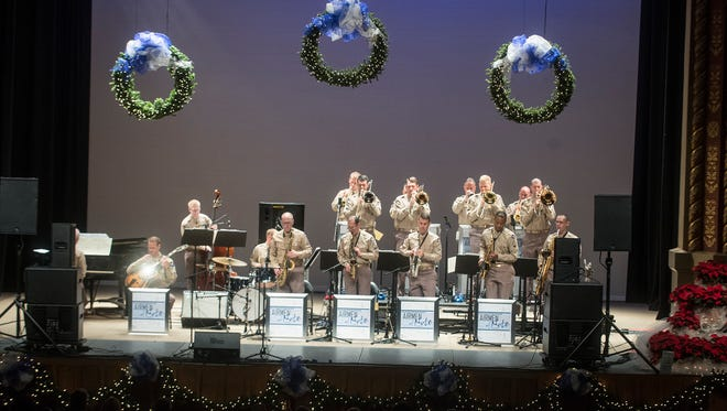 Montgomery's Davis Theatre had a packed house for the Glenn Miller holiday concert on Wednesday, Dec. 14, 2016, featuring the Airmen of Note.