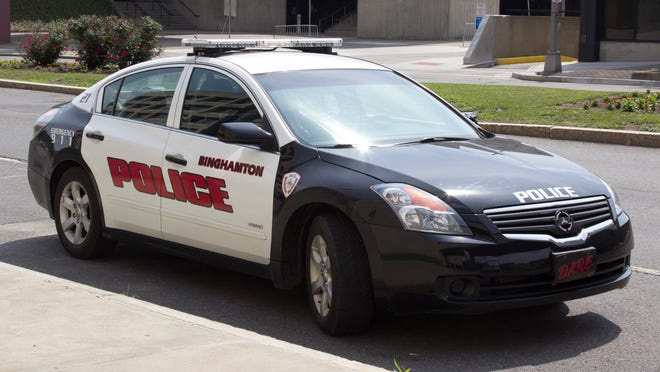 A Binghamton police patrol vehicle.