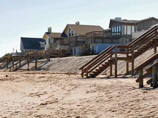 Beach renourishment project work near Floridana Beach,