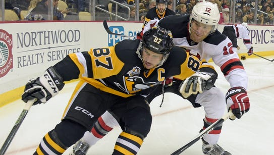 Pittsburgh Penguins center Sidney Crosby (87) was instrumental