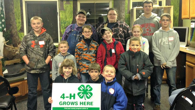 Pictured in the top row, from left, are: Collin Bretz, Wyatt Shorb, Michaela Shorb, and Jacob Bower.  Pictured in the middle row, from left, are: Nick Putt, Gabe Putt, Clayton Kuhn, Marissa Stoermer, and Kenny McGarry. Pictured in the front row, from left, are: Katelyn Keller, Kyle McGarry, Wyatt Bretz, and Cooper Umbrell.