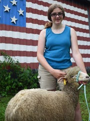 Cosette Veeder-Shave, 14, of Hyde Park with one of