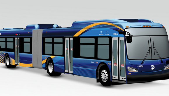 A photo of the new MTA buses for New York City