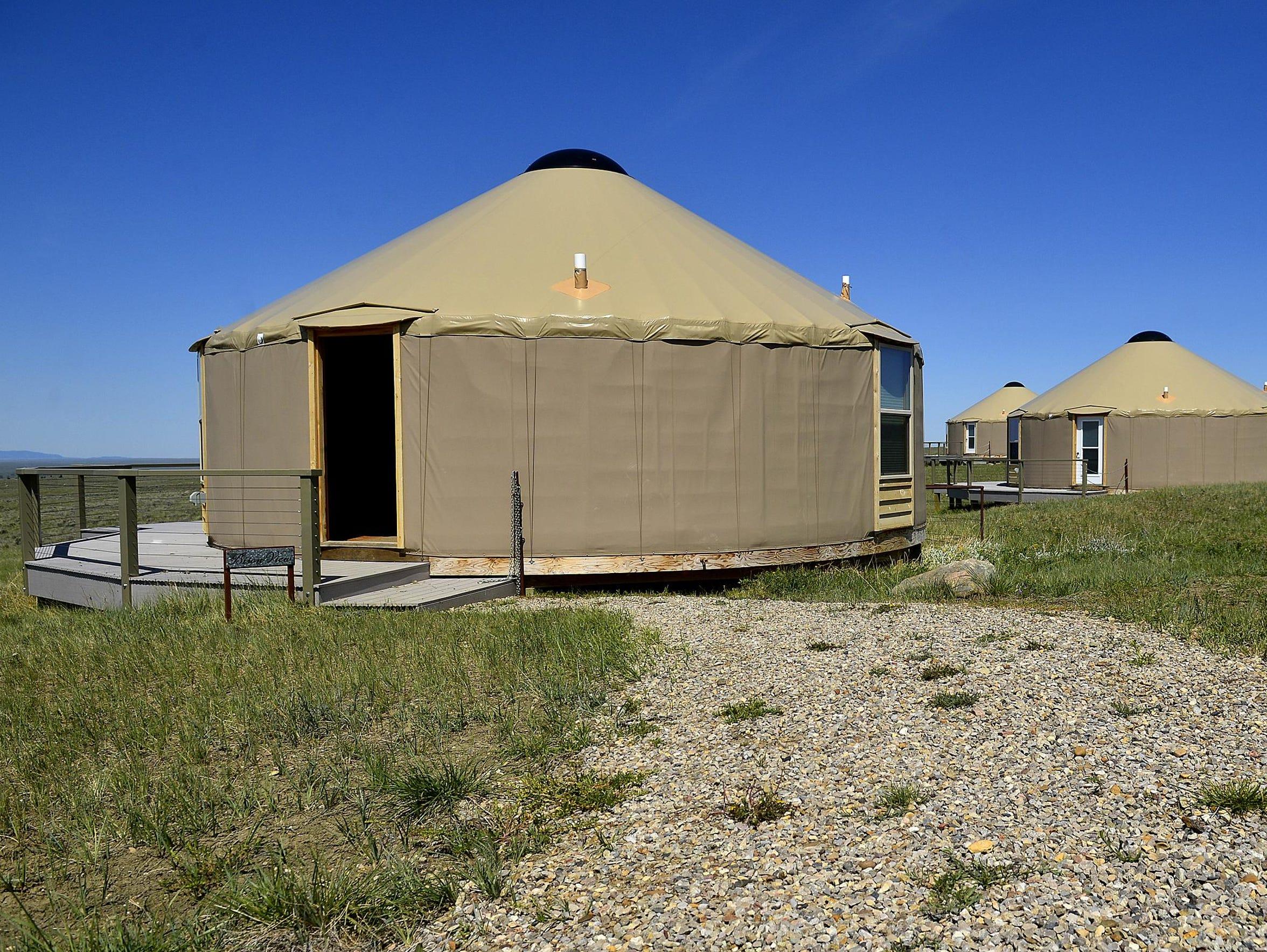 The American Prairie Reserve's Kestrel Camp.