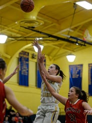 Northern Lebanon's Zoe Zerman hits a jump shot for